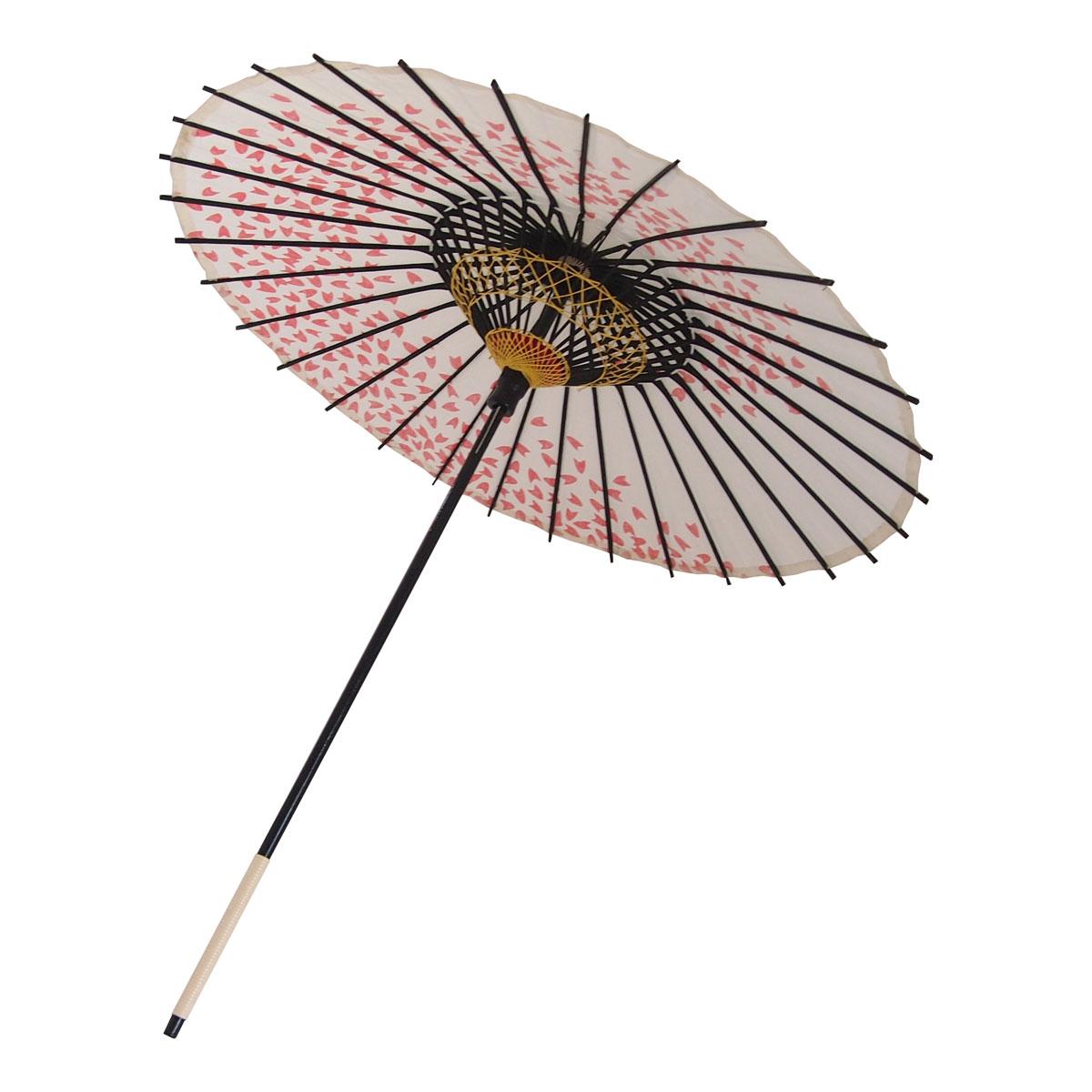 こども用和傘 桜渦 白地赤