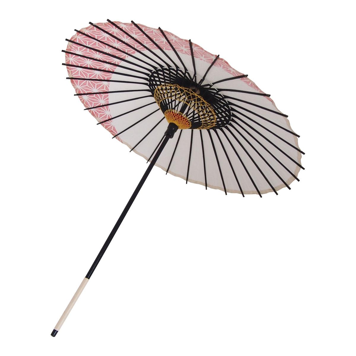 こども用和傘 麻月 朱色