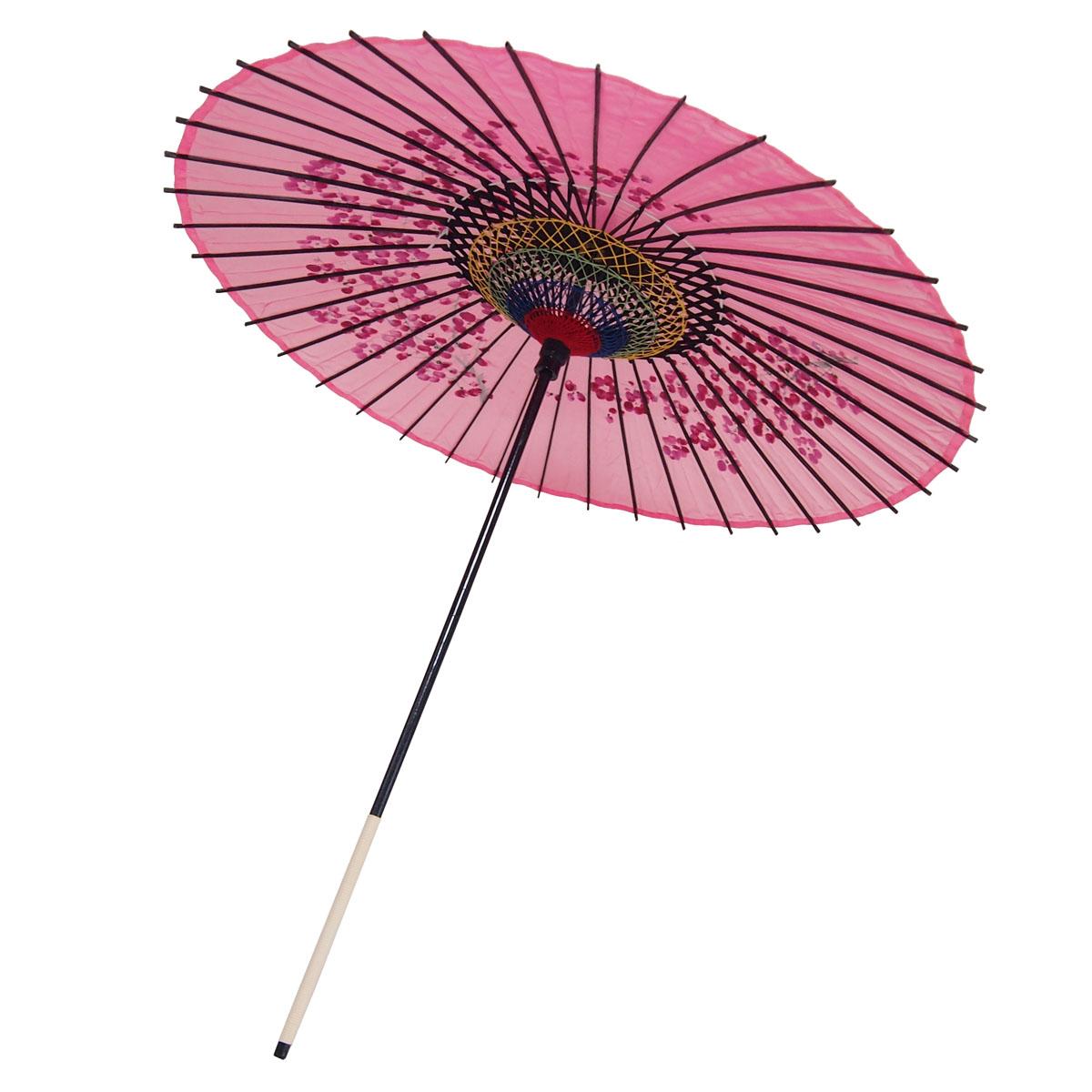 絹傘 桜絵 ピンク