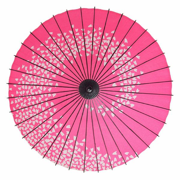 紙舞日傘 桜渦 ピンク