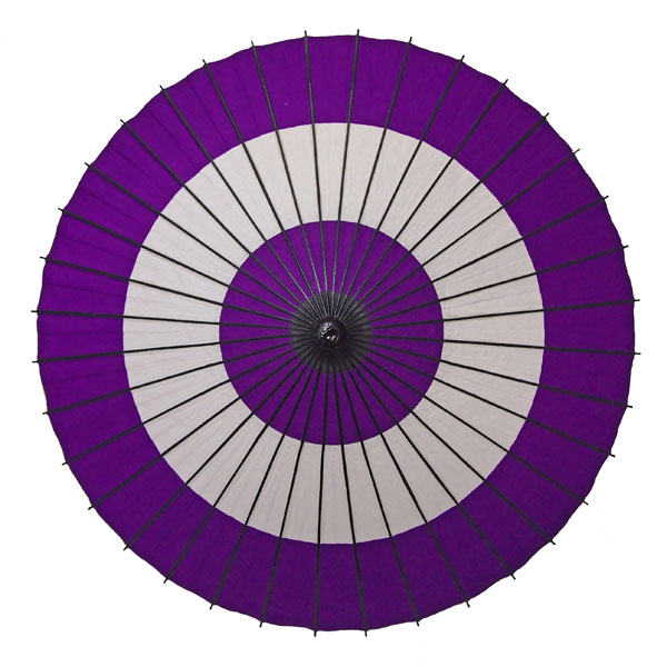 紙舞日傘 蛇の目柄 紫