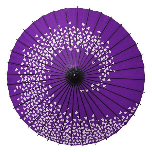 紙舞日傘 桜渦 紫