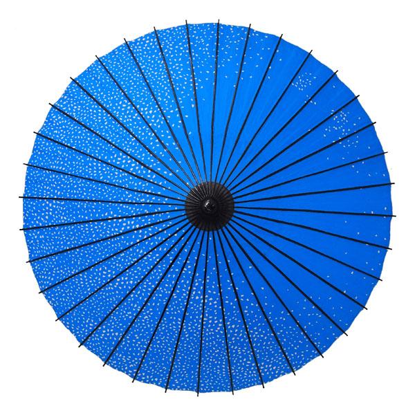 紙舞日傘 満天桜 水色