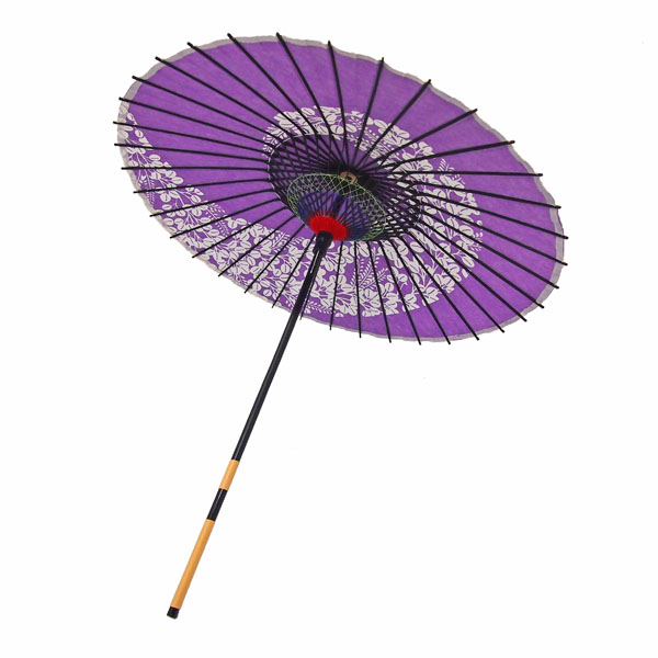 紙傘 萩渦 紫
