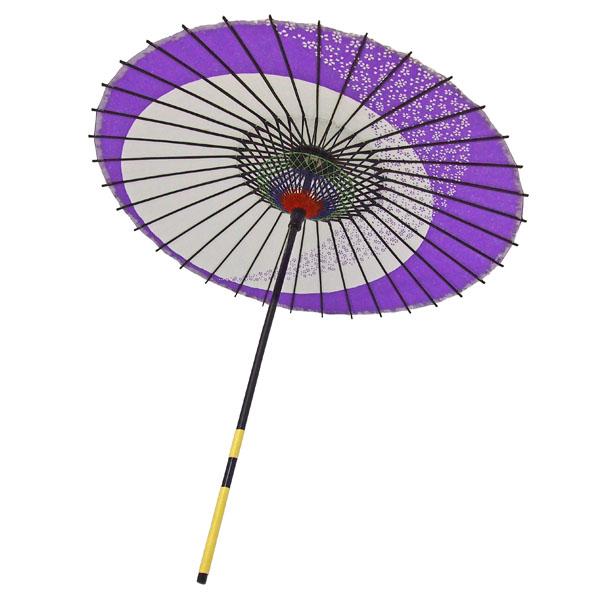 紙傘 月やっこ桜流し 紫