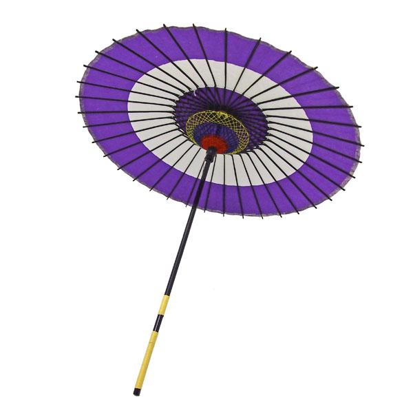 紙傘 蛇の目柄 紫