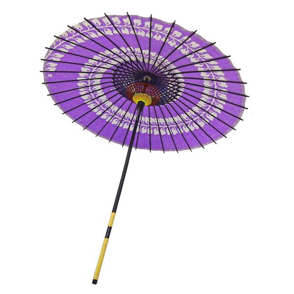 紙傘 藤渦 紫