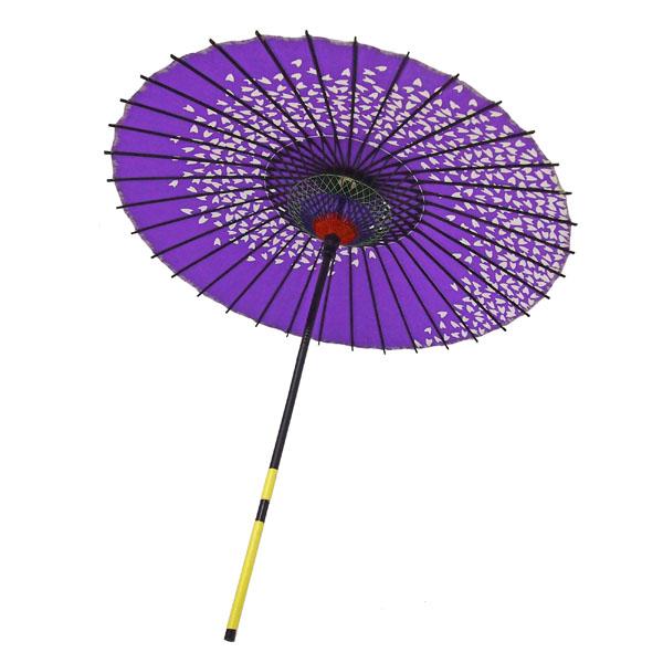 紙傘 桜渦 紫