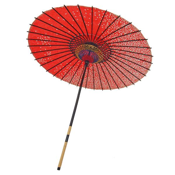 紙傘 満天桜 朱色