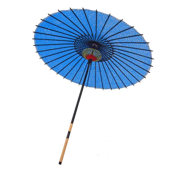紙傘 満天桜 水色