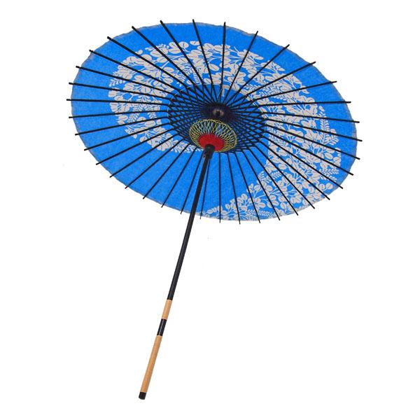 紙傘 萩渦 青