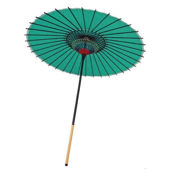 紙傘 尺5 無地 緑