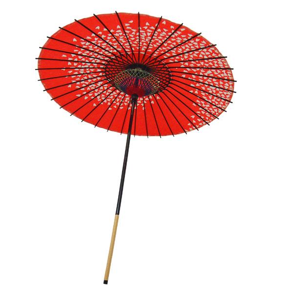 紙傘 尺5 桜渦 朱色