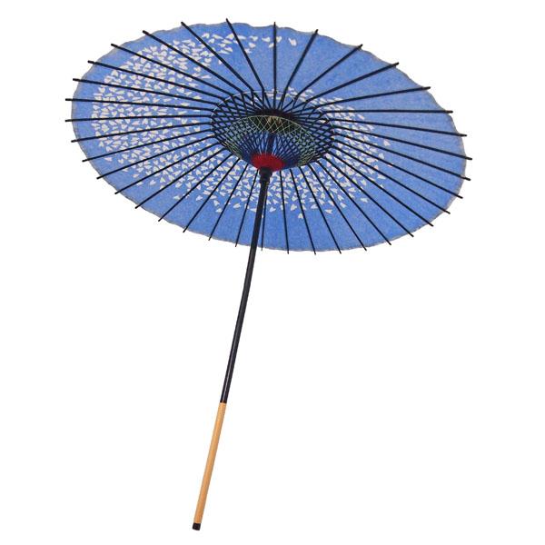 紙傘 尺5 桜渦 水色