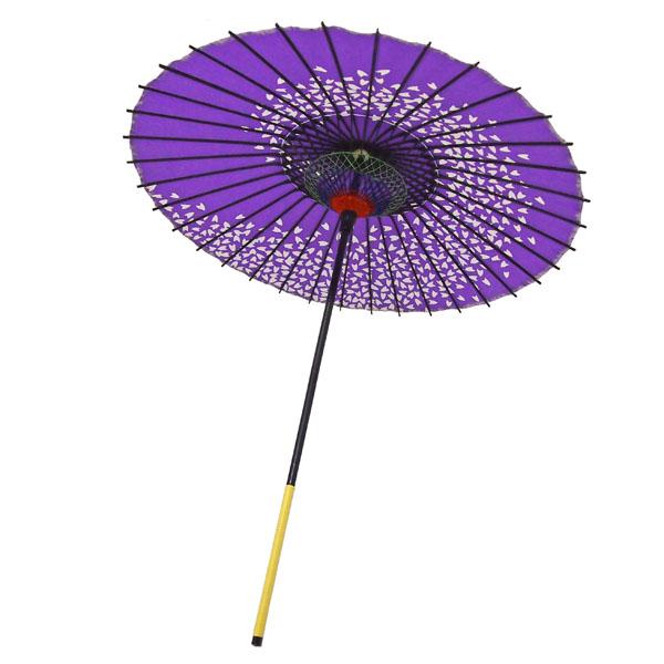 紙傘 尺5 桜渦 紫