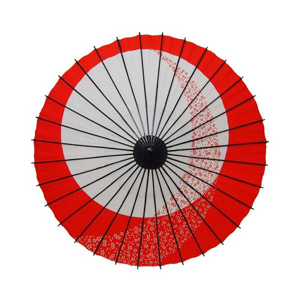 こども用和傘 月やっこ桜流し エンジ