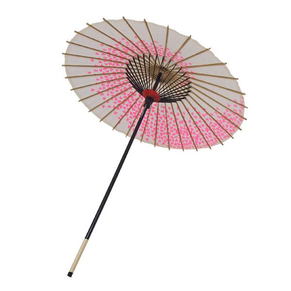こども用和傘 桜渦 白地ピンク