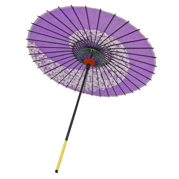 紙傘 尺5 萩渦 紫