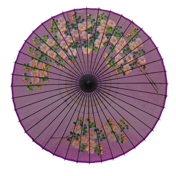 絹舞傘 桜絵 紫