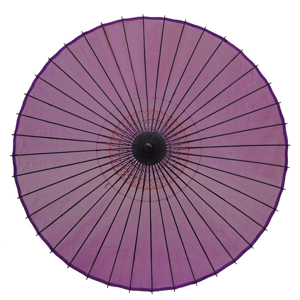 絹舞傘 無地 紫