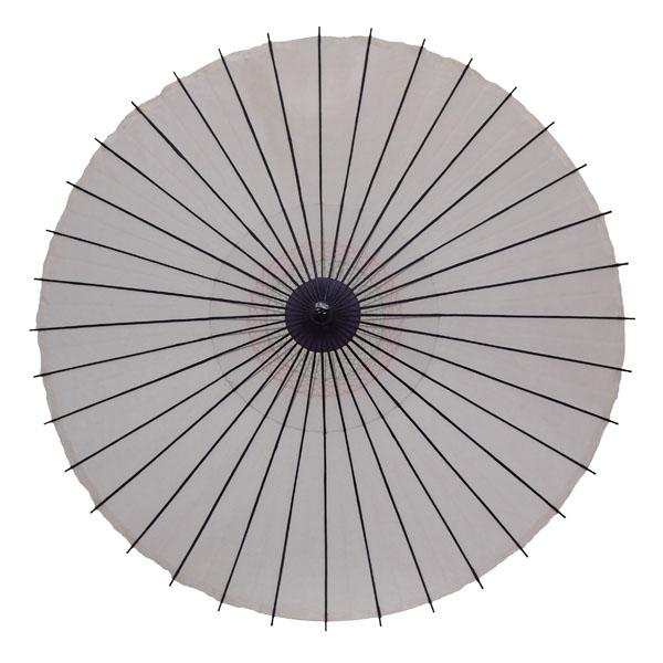 絹舞傘 無地 白