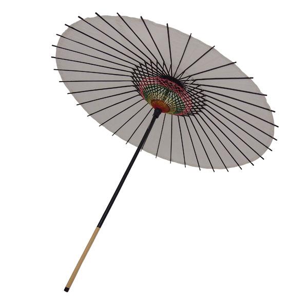 絹傘 無地 白