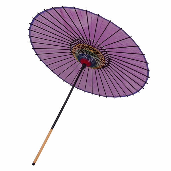 絹傘 無地 紫