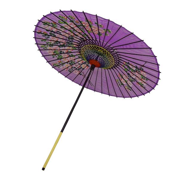 絹傘 桜絵 紫