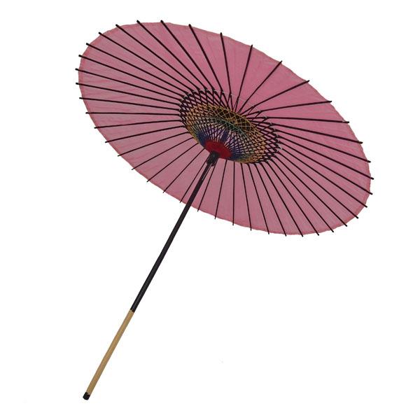 絹傘 無地 ピンク