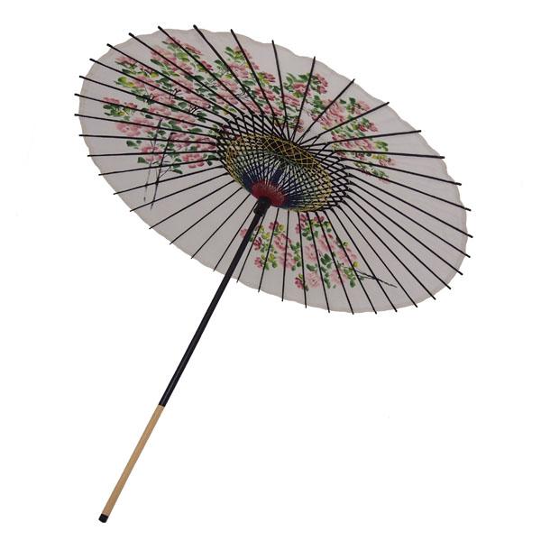 絹傘 桜絵 白