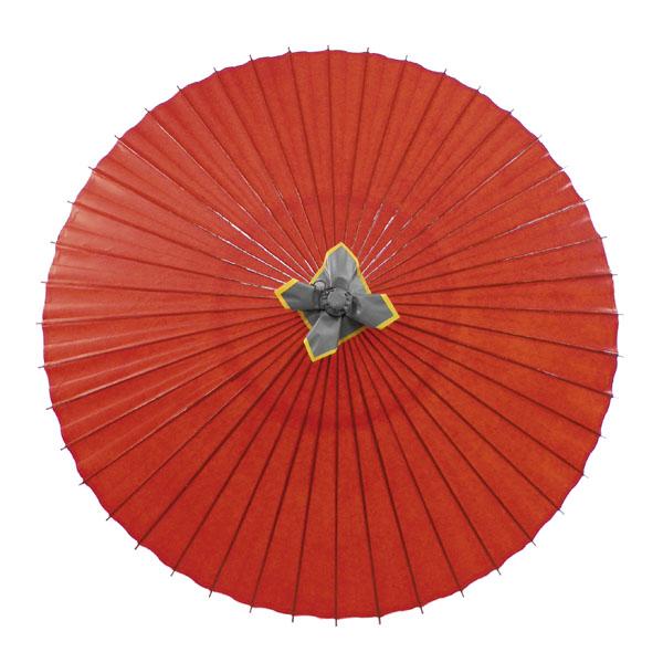 蛇の目傘 羽二重 赤