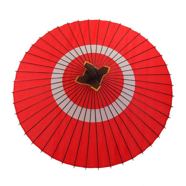 布傘 蛇の目柄 赤
