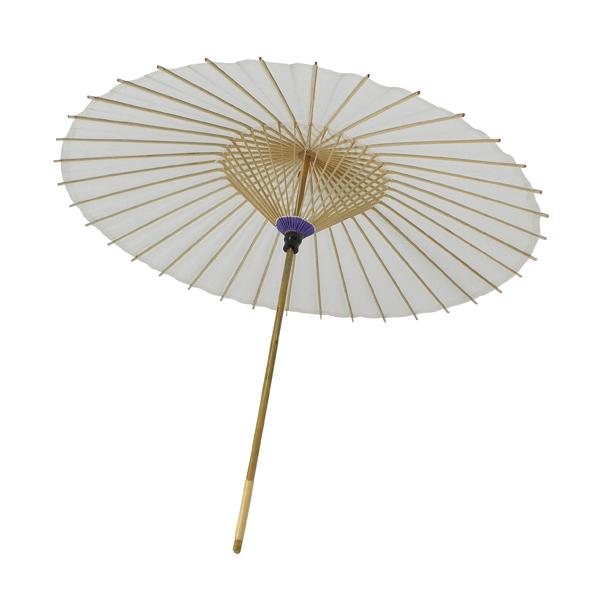 舞踊用小番傘 白