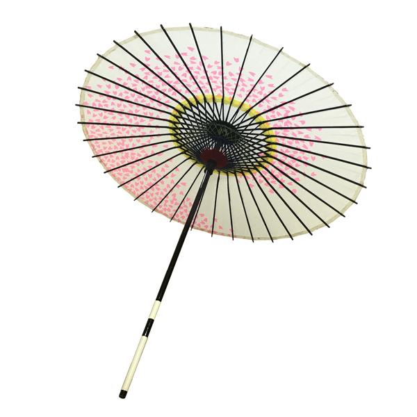 紙傘 尺4 桜渦 白地ピンク 特選