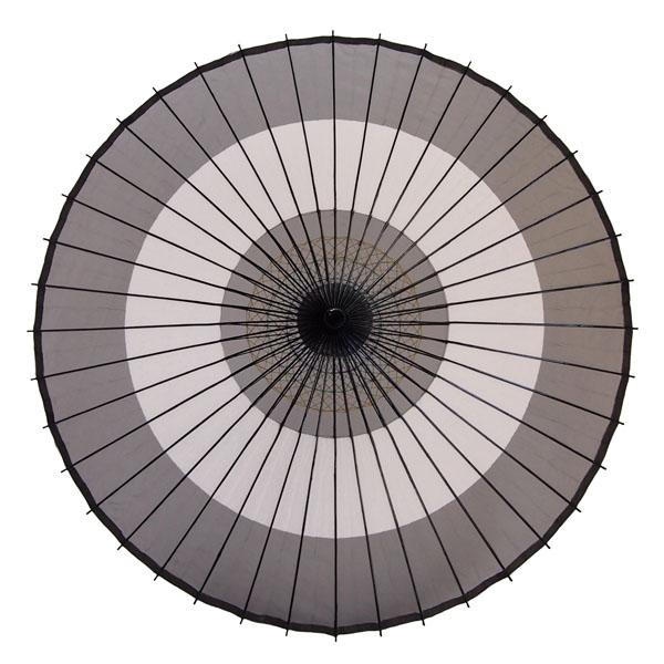 絹傘 助六 黒/白