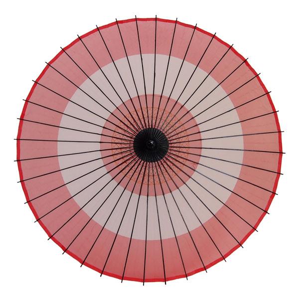 絹傘 助六 赤/白