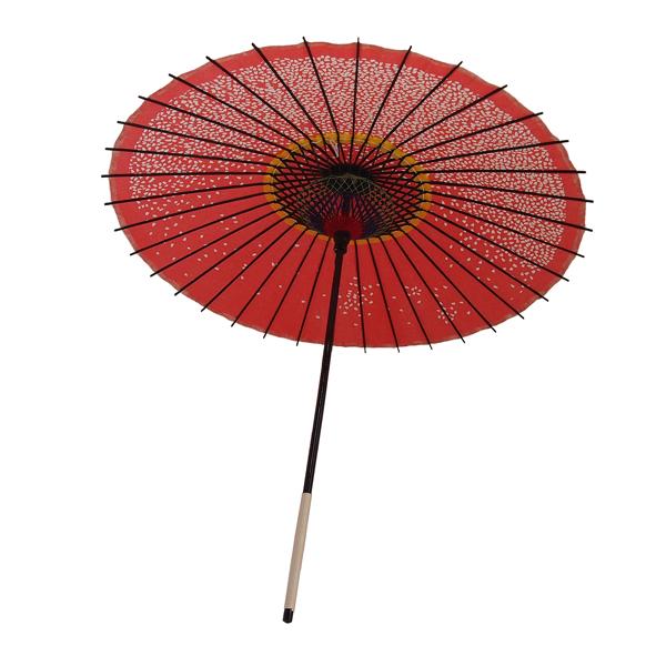 紙傘 尺5 満天桜 朱色 特選