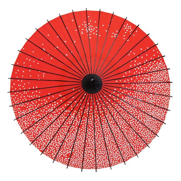 紙傘 尺4 無地 朱色 特選