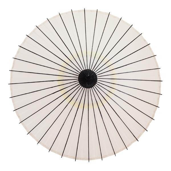紙傘 尺5 無地 白 特選