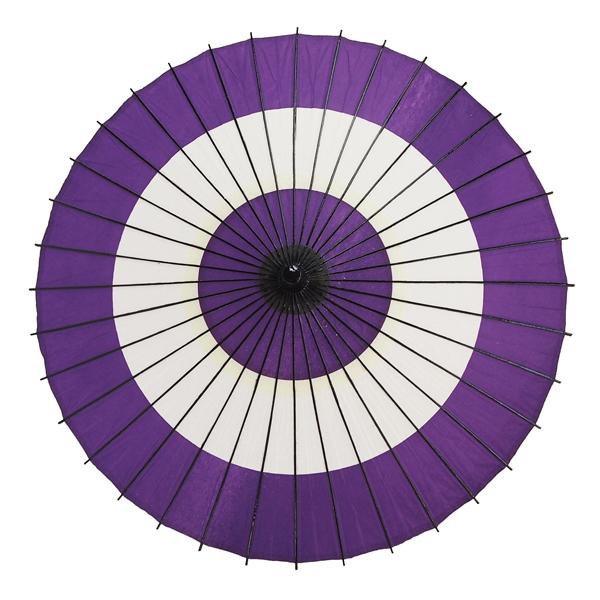 紙傘 尺4 蛇の目柄 紫 特選