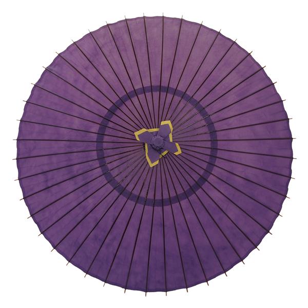蛇の目傘 無地 紫 別注品