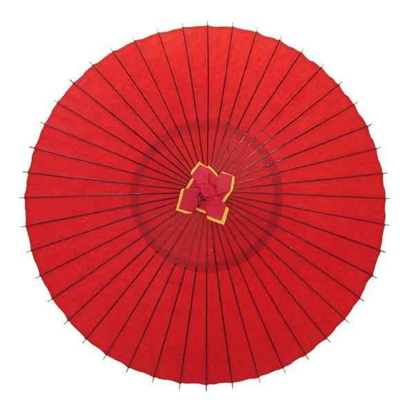 蛇の目傘 無地 赤 別注品