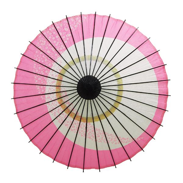 こども用和傘 月やっこ桜流し ピンク 特選