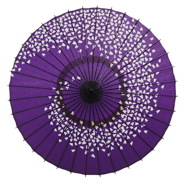 紙傘 尺4 桜渦 紫 特選