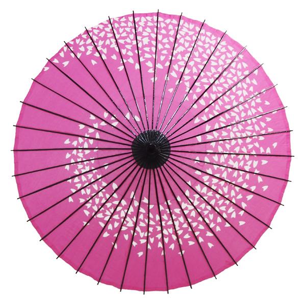 布傘 尺4 桜渦 ピンク