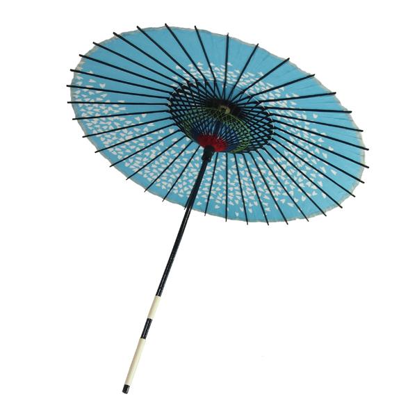 布傘 尺4 桜渦 水色