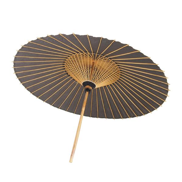 番傘 黒 別注品 直竹