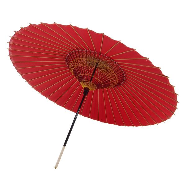 蛇の目傘 無地 赤
