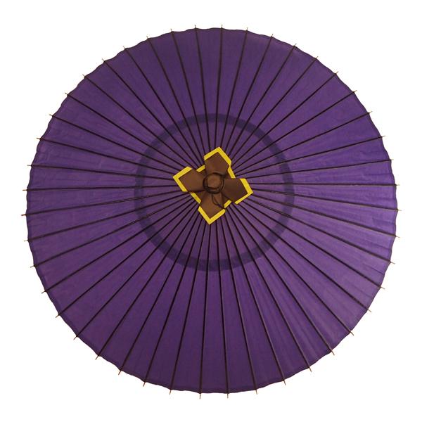 蛇の目傘 無地 紫