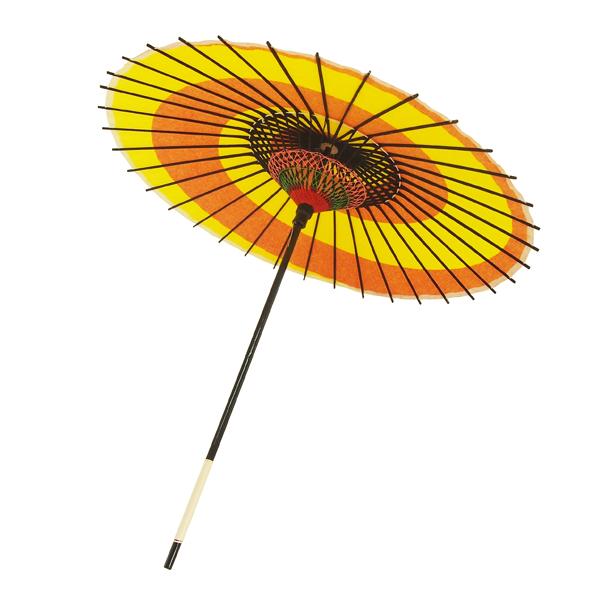 紙傘 尺4 黄地赤渦